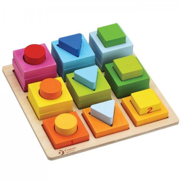 بلوک های هندسی چوبی classic World مدل geometric Blocks 3538