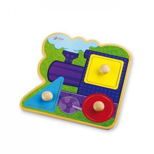 جورچین و پازل قطار چوبی Classic World مدل Train Infant Puzzle 2068