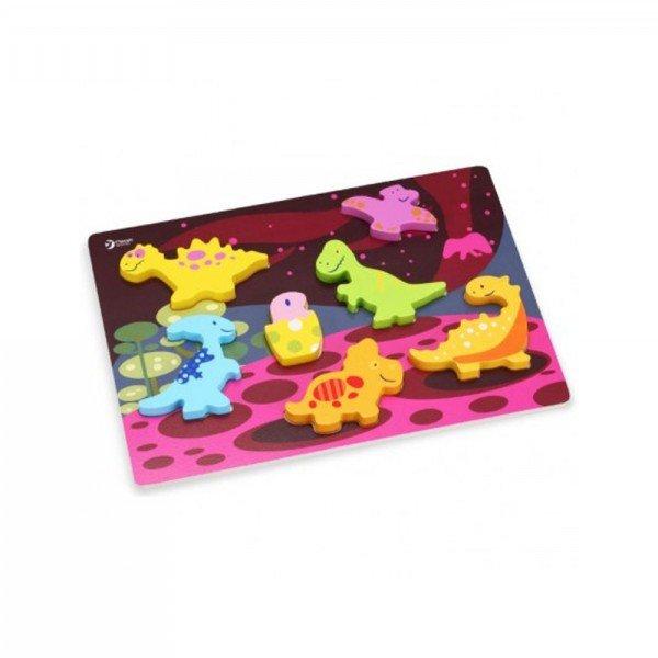 پازل چوبی کودک طرح دایناسور  Classic World مدل Dinosaur 3D Puzzle 3552