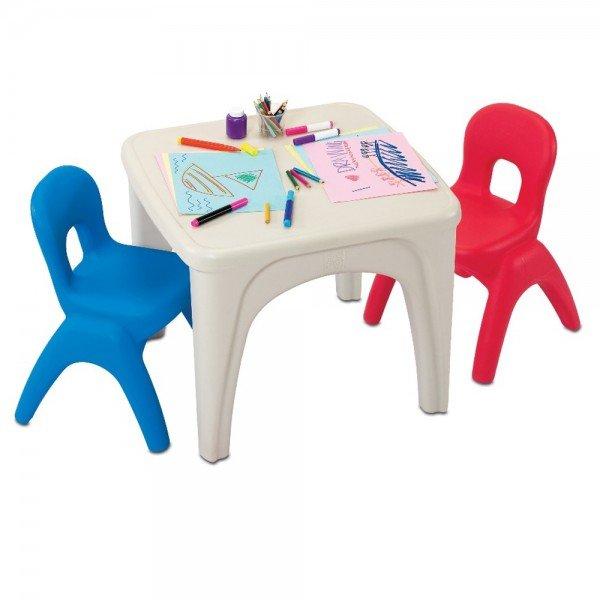 میز سفید و دو صندلی کودک مدل grow'n up 3020