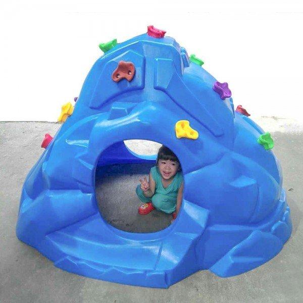 صخره نوردی  کودک تونلی آبی