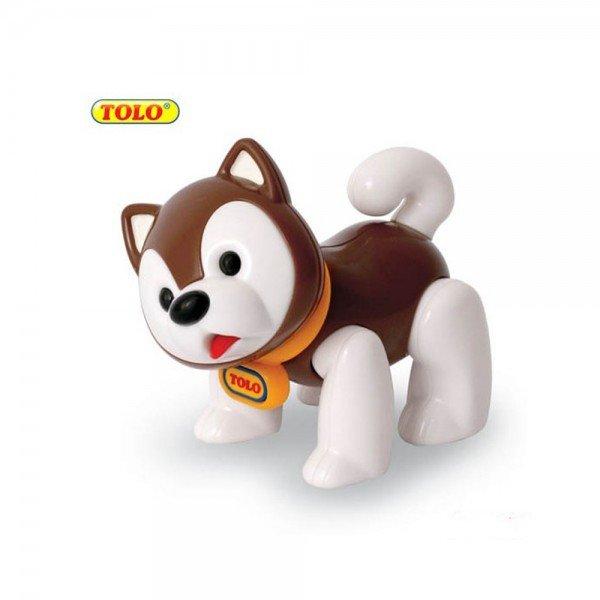 عروسک نشکن سگ اسکیمو قهوه ای tolo 87409
