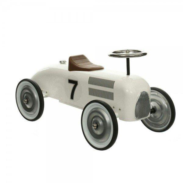 ماشین پایی فلزی کلاسیک سفید Vilac Metal Car, White