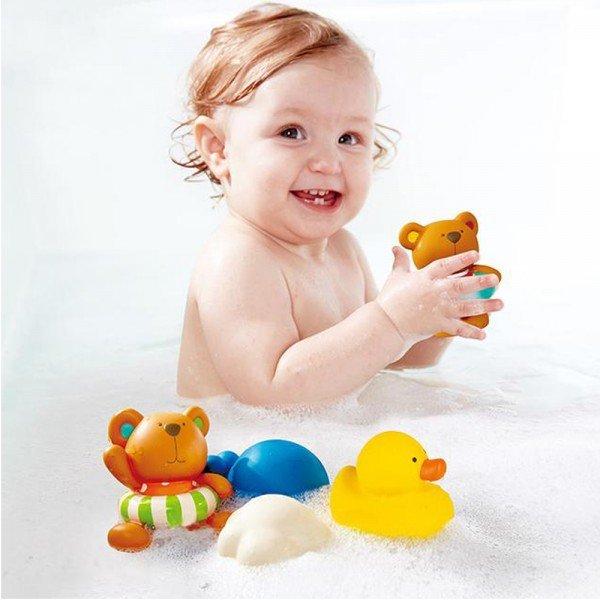 اسباب بازی حمام تدی و دوستان 0201 TEDDY AND FRIENDS BATH SQUIRTS hape