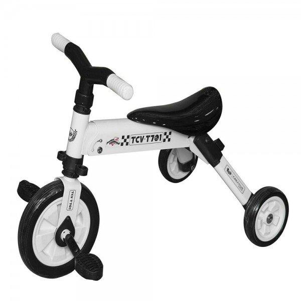 سه چرخه تاشو سفید کودک  tcv  کد 221107