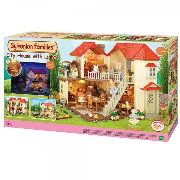 خانه عروسک شهری با چراغ سیلوانیان فامیلیز 2752 sylvanian families