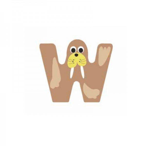 حرف W چوبی classic world 4425