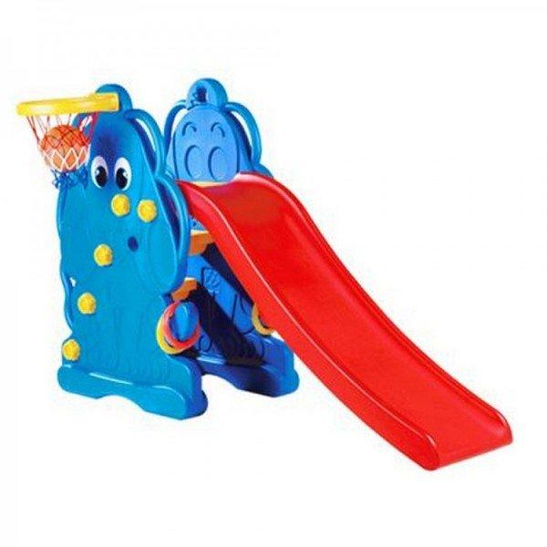 سرسره مدل سگ آبی با حلقه بسکتبال edu_play