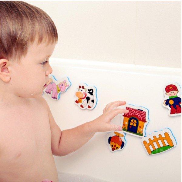اسباب بازی حمام استیکر فومی حیوانات مزرعه tolo 50202