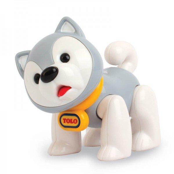 عروسک نشکن سگ اسکیمو طوسی tolo 87404