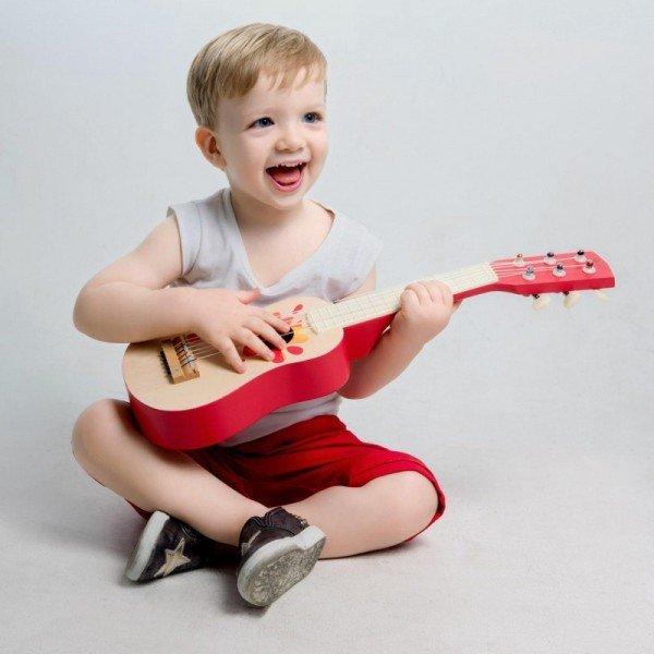 گیتار قرمز چوبی classic world مدل 4015