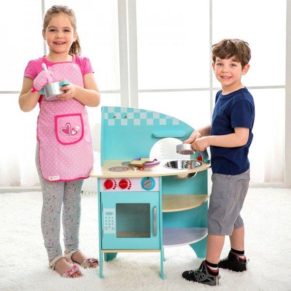 آشپزخانه چوبی Classic World مدل 4157 Blue Kitchen