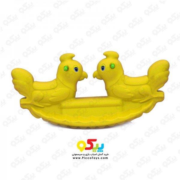 الاکلنگ تعادلی دو نفره خروس رنگ زرد 5089
