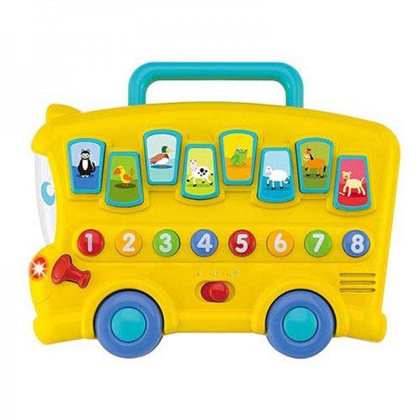 اسباب بازی موزیکال کودک اتوبوس حیوانات winfun مدل 00676