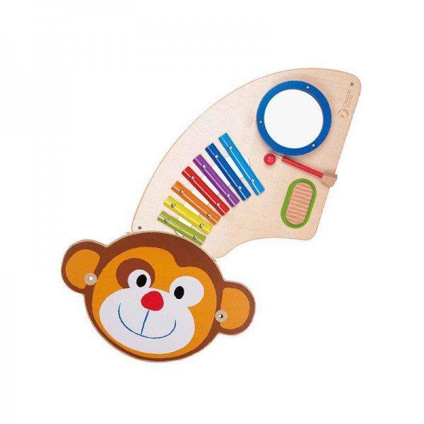 دیوارکوب چوبی موسیقی هوش و سرگرمی میمون 8071 classic world