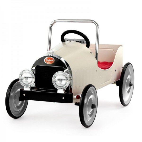 ماشین پدالی فلزی classic pedal car white baghera 1941