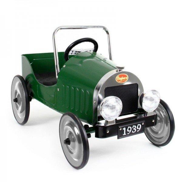 ماشین پدالی فلزی کودک  classic pedal car green baghera 1939