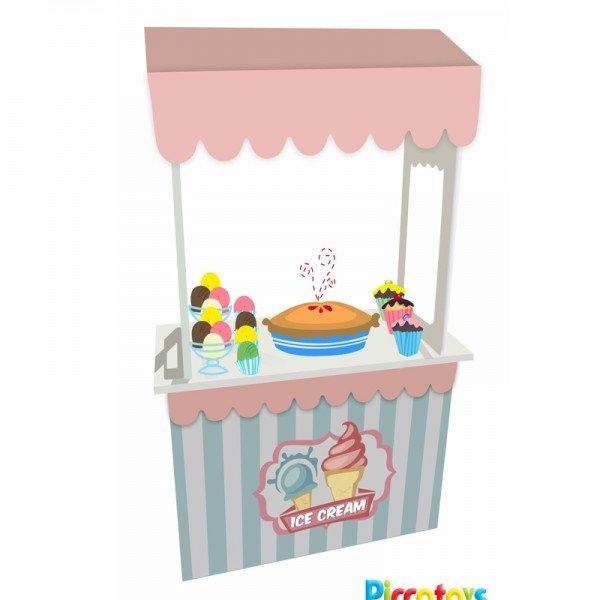 استند چوبی بستنی و شیرینی فروشی 376624