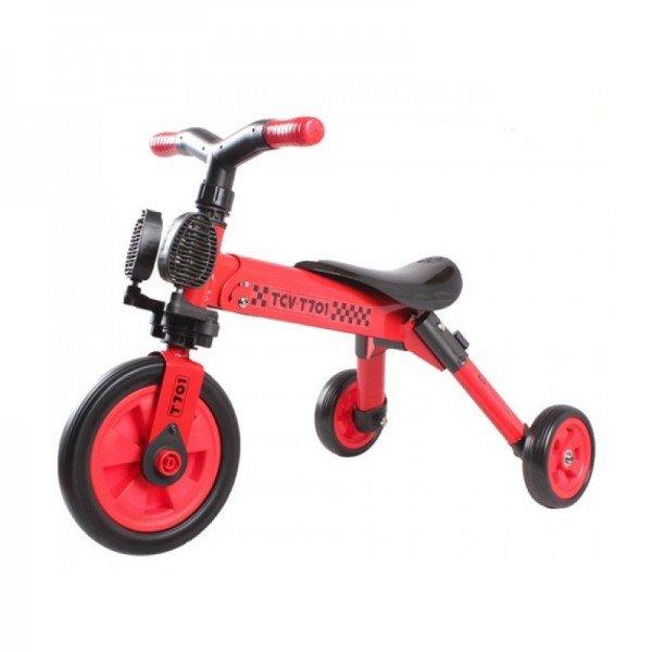 سه چرخه تاشو قرمز کودک  tcv  کد 221107