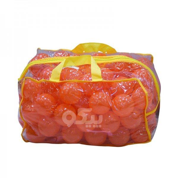 توپ بازی کودک کیفی نارنجی بسته 100 تایی کد 0051