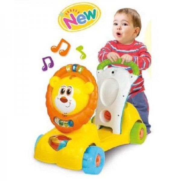 واکر کودک موزیکال سه کاره طرح شیر winfun مدل 00855