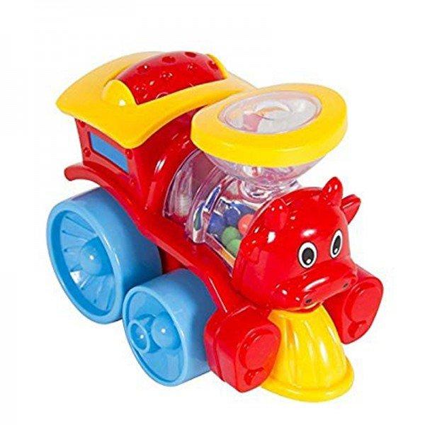 قطار کوچک قرمز نشکن hulie toys 706