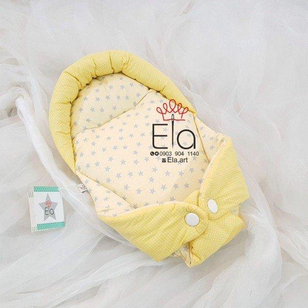 آغوشگیر کودک  elaart زرد طرح ستاره توسی 8058