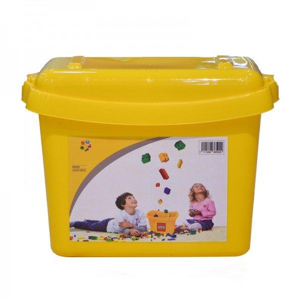 جعبه درب دار لگو و اسباب بازی زرد کد 85929