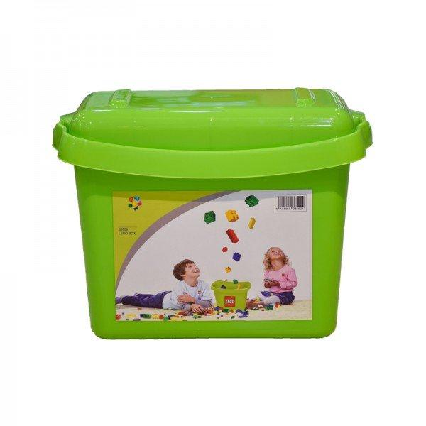 جعبه درب دار لگو و اسباب بازی سبز کد 85929