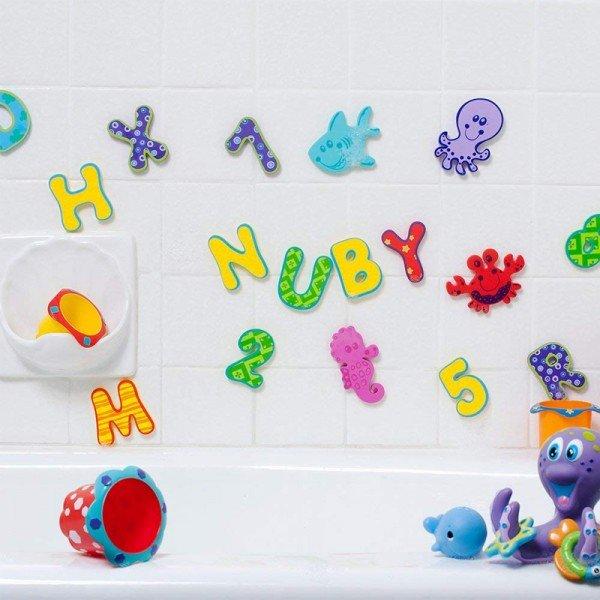 اعداد و حروف فومی حمام 36 عددی nuby 6140