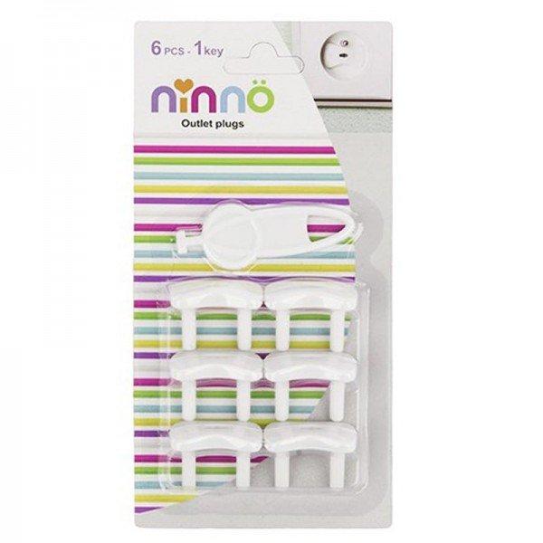 محافظ 6 عددی پریز برق با کلید مدل ninno 1009