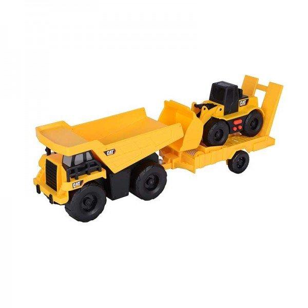 کامیون با تریلر مخصوص حمل لودر Toy state مدل 34777
