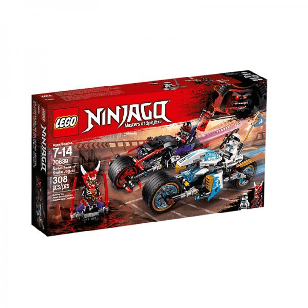 مجموعه ماشین های مسابقه ای نینجاگو مدل  70639 Lego Street Race of Snake Jaguar