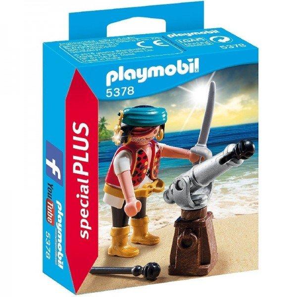 پلی موبيل دزد دریایی مدل  5378 Pirate with Cannon Playset