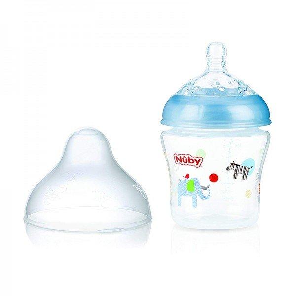 شیشه شیر آبی طرح دار nuby 1193