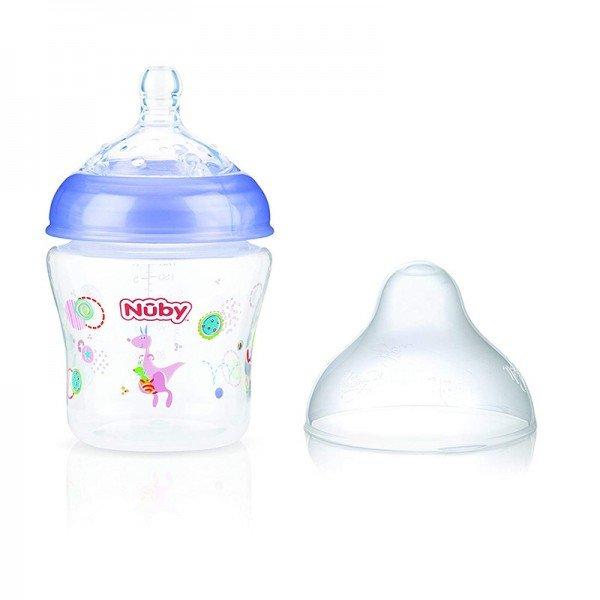 شیشه شیر بنفش طرح دار nuby 1193
