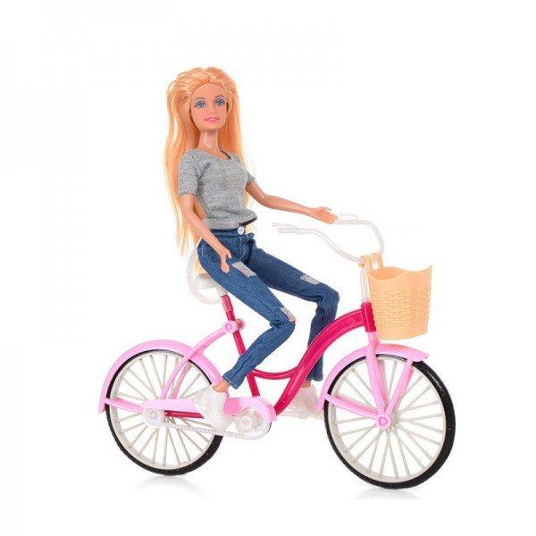 عروسک دفا با دوچرخه (تیشرت توسی) مدل 8361