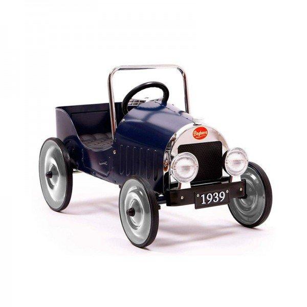 ماشین پدالی فلزی classic pedal car blue baghera 1933
