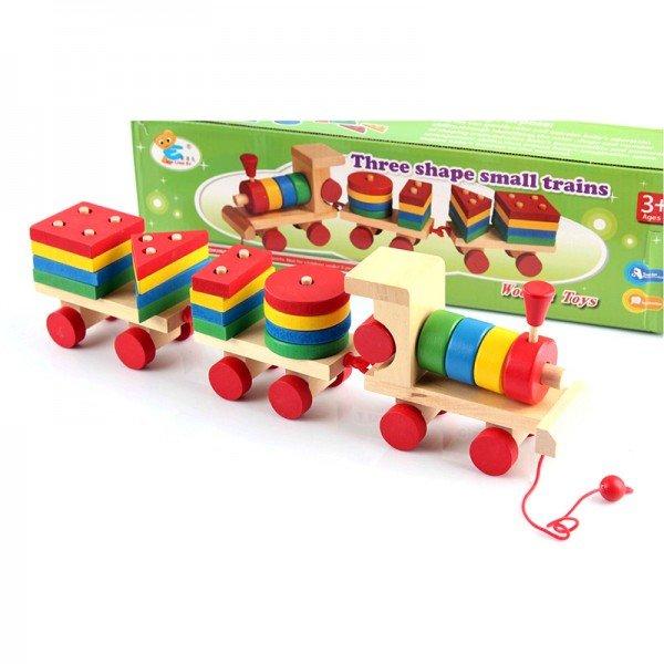 قطار چوبی جایگذاری اشکال مدل 1616
