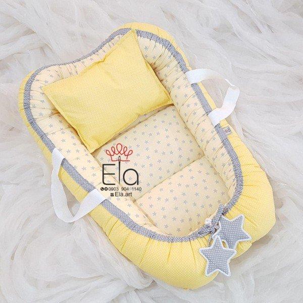 ست 2 تکه elaart زرد طرح ستاره توسی 8059