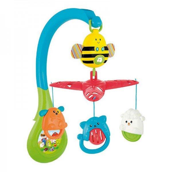آویز تخت موزیکال کودک و نوزاد طرح زنبور winfun مدل 00856