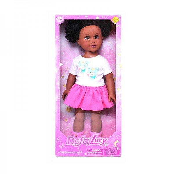 عروسک دفا با لباس سفید صورتی مدل 5502