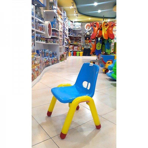 صندلی آبی زرد curvy مدل 5107