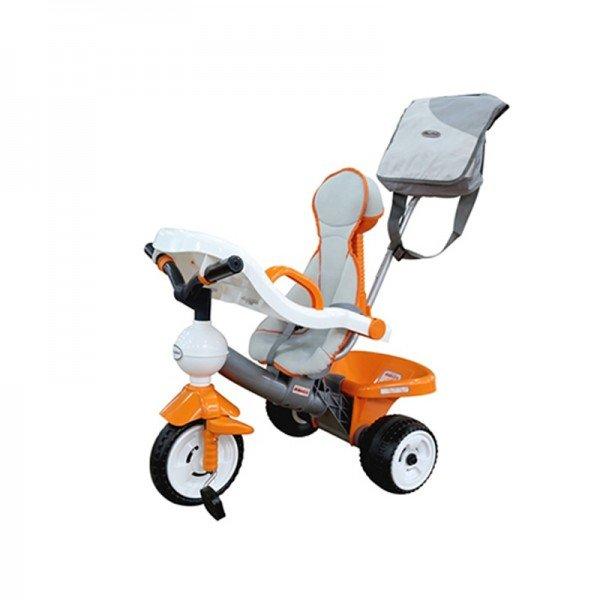 سه چرخه کودک نارنجی به همراه کیف polesie مدل 46567