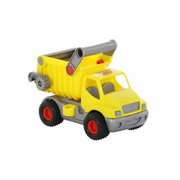 کامیون زرد با باربند زرد polesie مدل 44839