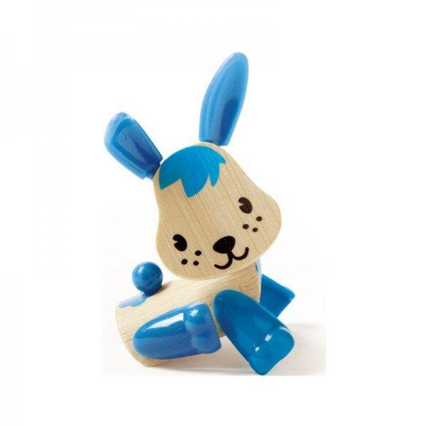 عروسک خرگوش آبی چوبی Hape مدل 5531