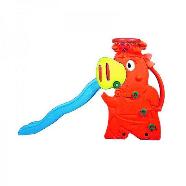 سرسره کودک طرح خوک رنگ قرمز مدل 5014