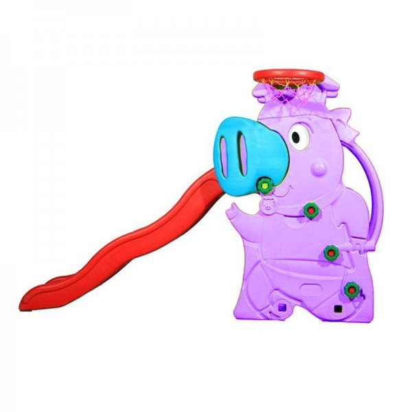 سرسره کودک طرح خوک رنگ بنفش مدل 5014