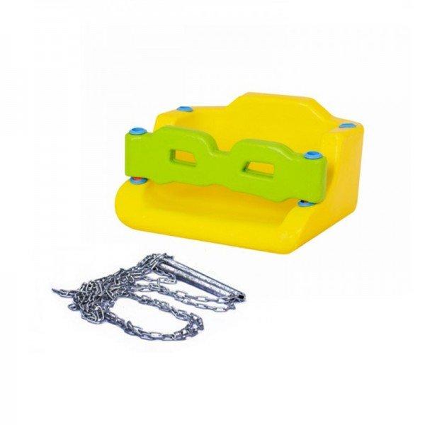 کفی تاب کودک حفاظ دار زرد با زنجیر  مدل 30091
