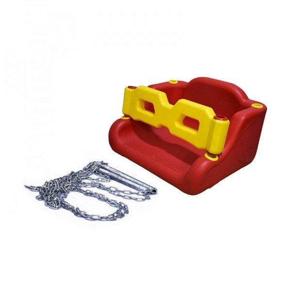 کفی تاب کودک حفاظ دار قرمز با زنجیر مدل 30091